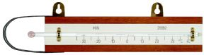 Solid stem minimum screen thermometer with wood back